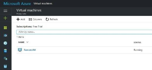 Azure portal view of Azure VMs