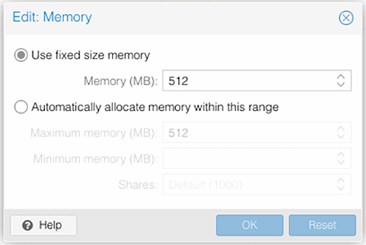 Configuring memory settings.