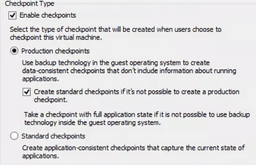 Enabling a checkpoint.