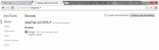 Chrome DevTools devices
