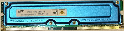 RDRAM memory