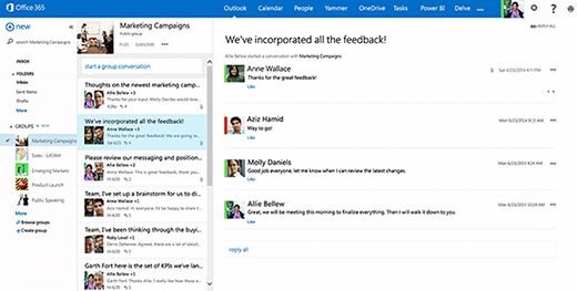 Office 365 collaboration features