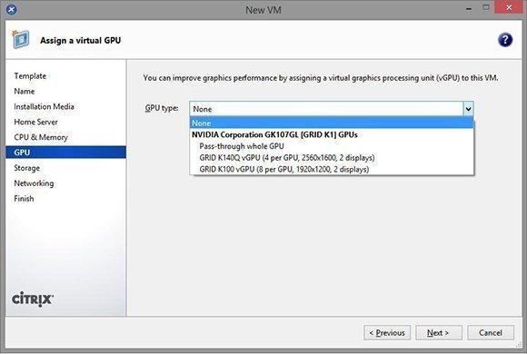 Virtual GPU assignment