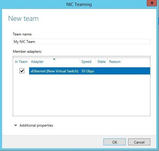 Naming NIC teams