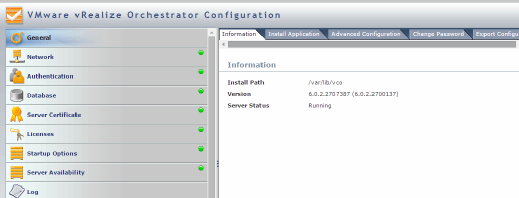 Checking the status of the vCenter Orchestrator.
