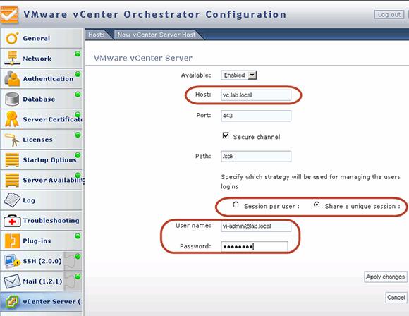 Registering vCenter Orchestrator