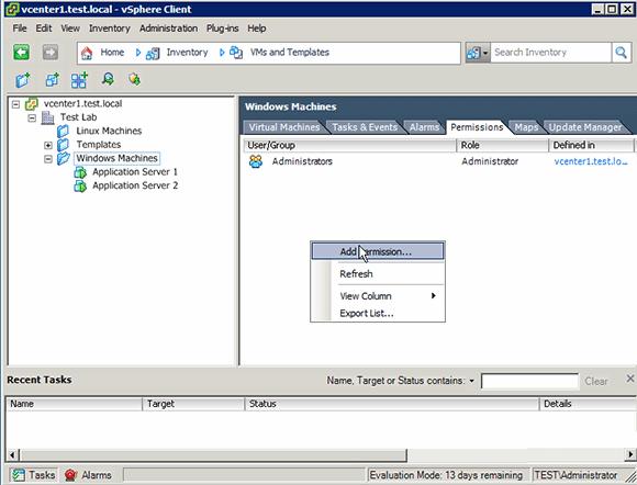 Add permissions to Windows admins