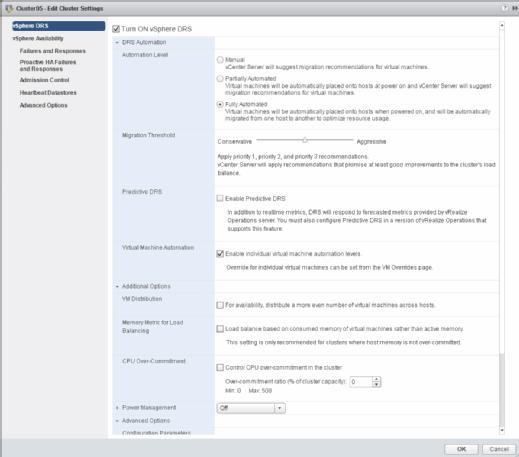 New vSphere DRS features.