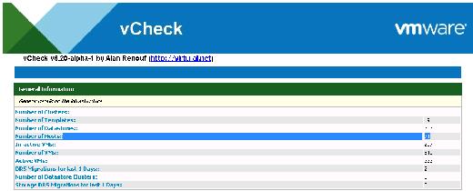 vCheck report