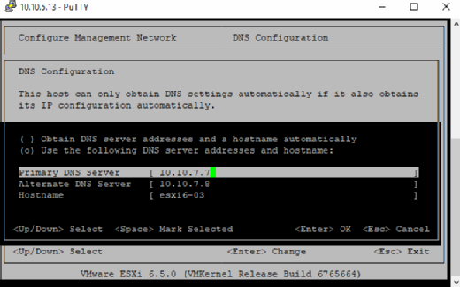 Configure primary and secondary DNS servers