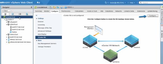 Start the VCHA configuration assistant.