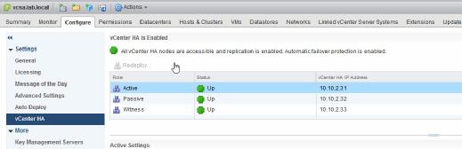 Monitor VCHA nodes.