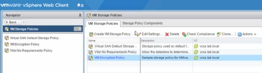 VM Encryption Policy.