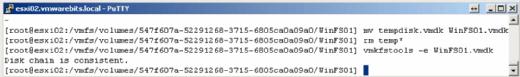 Überprüfung von VMDK- und flat.vmdk-Datei.