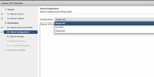 VMware Access Point configure NICs