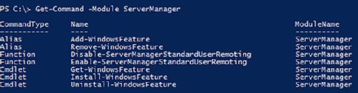 PowerShell Server Manager module
