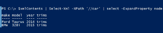 ExpandProperty parameter in XML