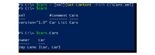 XML file contents