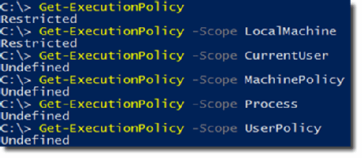 Execution policy values.
