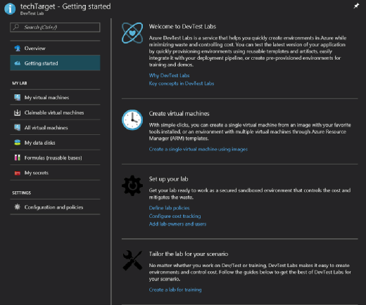 Azure DevTest Labs environment