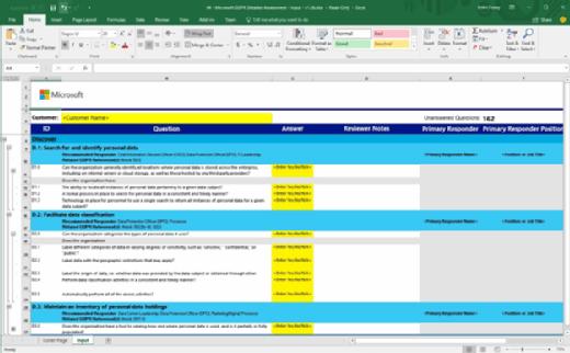 GDPR Detailed Assessment