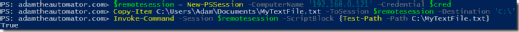PowerShell copying
