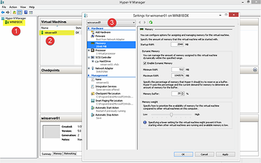 Configuring the Hyper-V VM