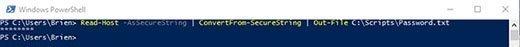 PowerShell command to store user password