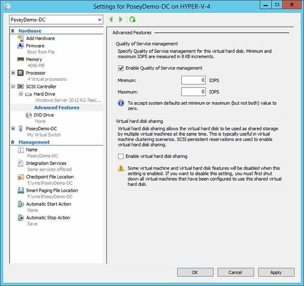 Windows Server 2012 R2服务质量管理