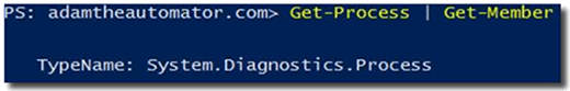 PowerShell using Get-Process and Get-Member