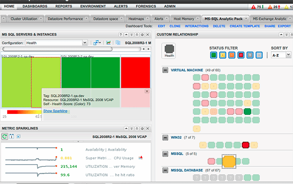 vCOps 5.8 dashboard