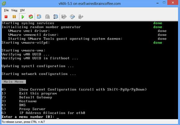 在vSphere Client下配置vMA