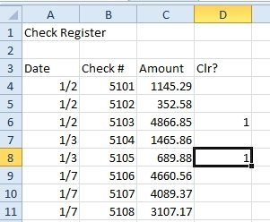 modified check register