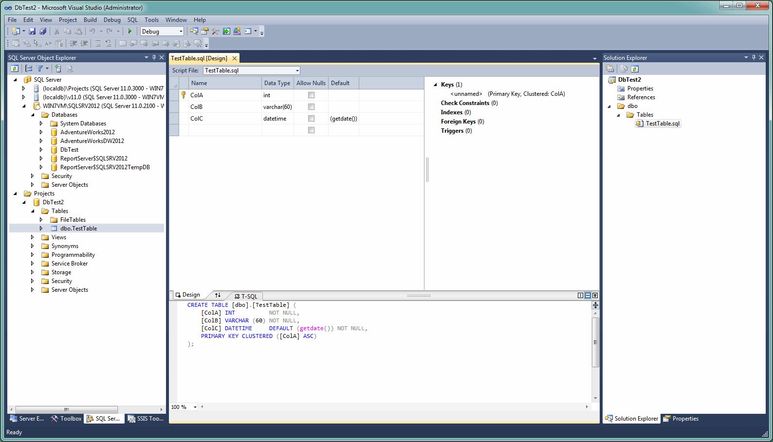 SSDT 2012 database updates