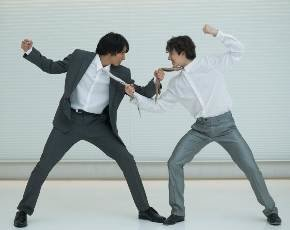 Fighting businessmen