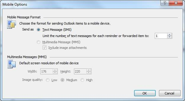 "Send Outlook 2010 items as multimedia attachments."" border="