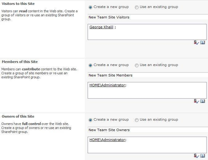 Organize SharePoint 2010 permissions during site creation.
