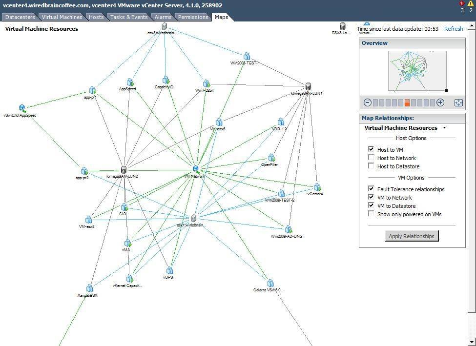 Use vSphere's mapping tool to diagram your virtual infrastructure.