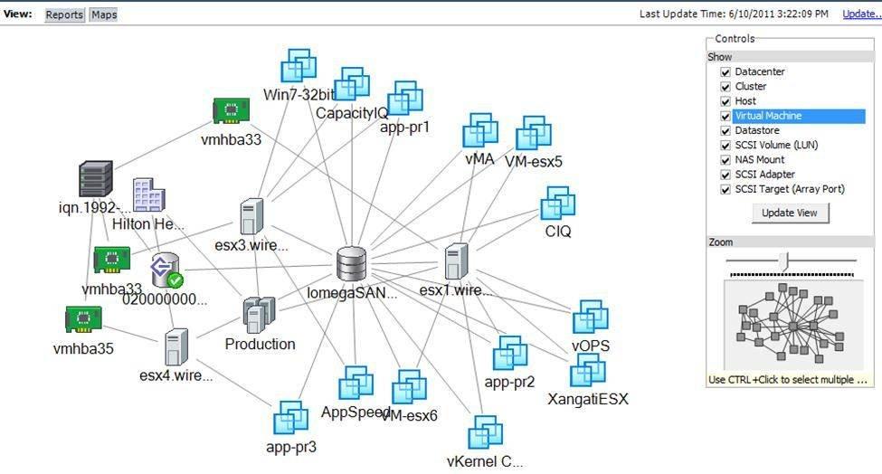 VMware vCenter maps have several advantages.
