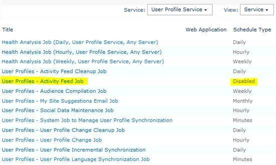 Enable SharePoint 2010 news feeds.