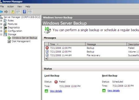 Windows Server Backup