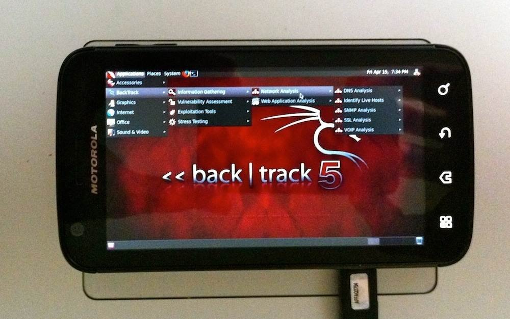 BackTrack 5 on a Motorola Atrix 4G