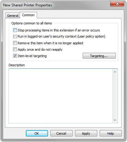 Setting additional options for a printer connection