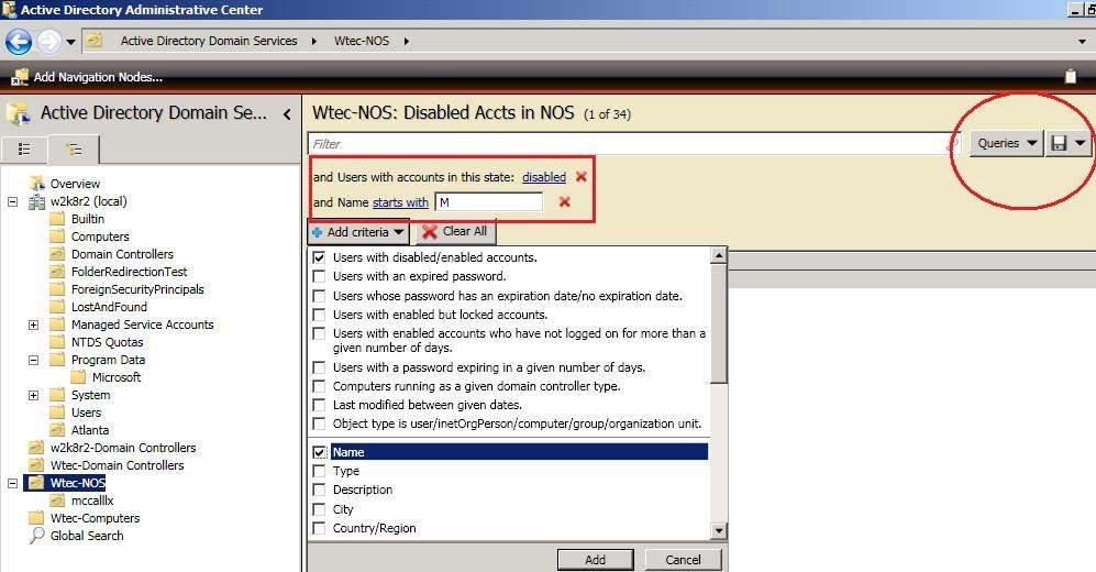 Attribute editor in the ADAC