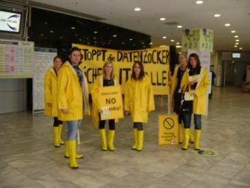 Symantec protesters