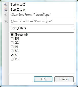 Figure 6. Creating a row filter in the Table Import Wizard