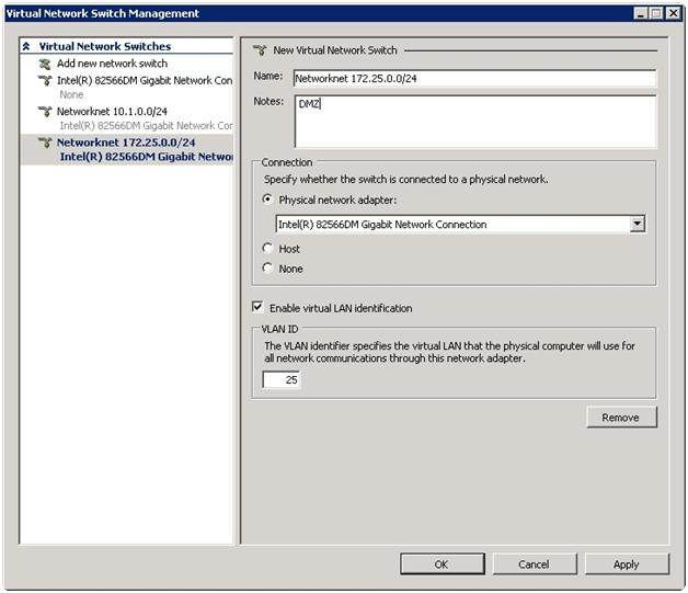 Managing virtual network switches