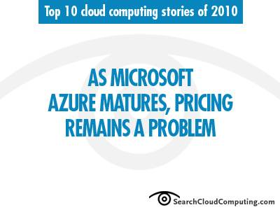 Microsoft Azure pricing issues