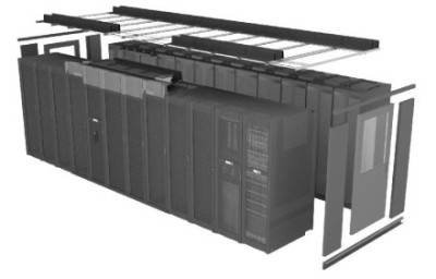 APC sells a prepackaged hot aisle containment product for data centers