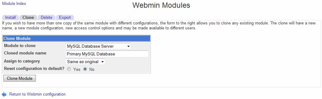 Install Mailscanner Webmin Module Development